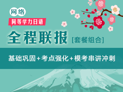 【网络】2019年同等学力日语-全程联报